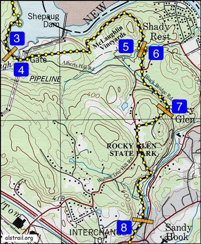 Trail segment map